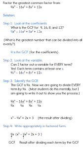 factoring using the gcf checking your factored solution