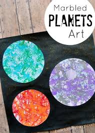 Preschool Space Craft: Marbled Planets Art | Space crafts, Shaving ...