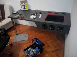 traditional styleomputerase desk build plans pc diy projects ideas