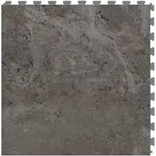 perfection floor tile travertine 6 piece 20 in x 20 in gray locking