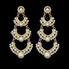 home winsome long chandelier earrings 46 indian wedding earring hanging gold color multilayer imitation pearl earings