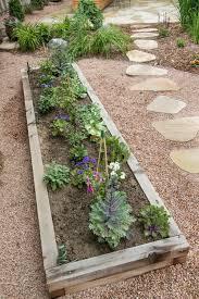 pea gravel patio herb garden