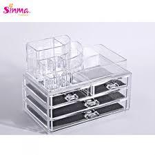 sinma 3 layers clear acrylic cosmetic organizer box