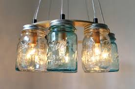 Wonderful Image Of Interior Lighting Decoration Using Canning Jar Lamp :  Casual Image Of Hanging Round ...