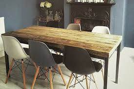chic industrial furniture. Reclaimed Industrial Chic 6-8 Seater Solid Wood And Metal Dining Table.Bar Cafe Bar Restaurant Furniture Steel Made To Measure
