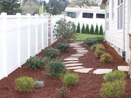 Side yard idea-For where grass will not grow at gate on north side of