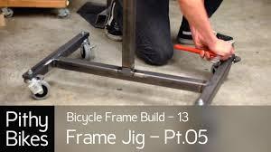 bicycle frame build 13 frame jig pt 05 welding frame jig stand you