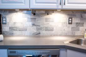 popular gray tile backsplash