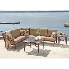 outdoor sectional metal. Enthralling Metal Outdoor Sectional Of Savoy 6 Piece Deep Seating Set E