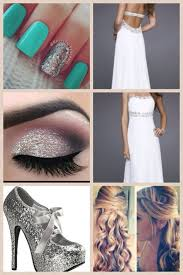 i think that this would be a cute prom look for any the silver