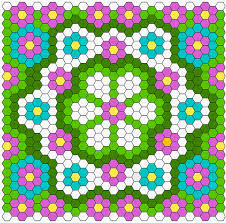 Free diagram: Summer Hexagon Quilt – Quilting & Hexagon Quilt Layout Diagram Twiddletails Adamdwight.com
