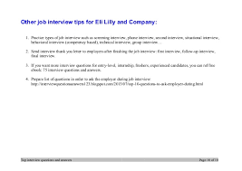 Top   eli lilly and company interview questions and answers