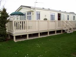 white fence ideas. Astounding White Modular Mobile Homes Design With Beautiful Fence Also Wooden Unique Stair Ideas