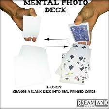 Blank And Blank Deck Mental Photography Trick Cards Bicycle