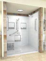 Stunning One Piece Shower Units to Your Bathroom with amazing design type:  Stunning White Interior