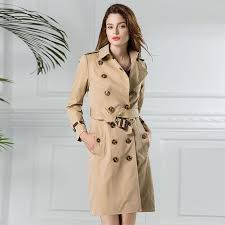 2019 2017 womens trench coats clothing las elegant outerwear british style autumn winter womans windbreaker basic long fall coat from waxeer