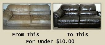 the easiest est diy project ever turn your old worn out leather sofa into a work of art for under 10 leman s happenings