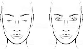 faedfbaeaffbacf face template makeup face charts superb makeup template