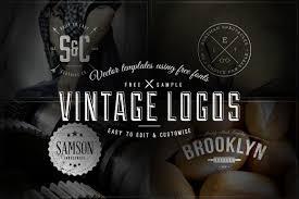 Vintage Logo Vector Free Download 4 Vintage Logos Badges Vector Templates Ian Barnard