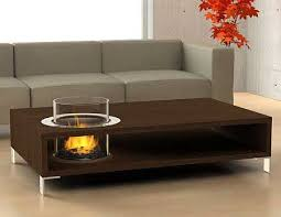 coffee table with an eco friendly