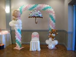 balloon arch for a baby shower