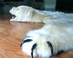 faux bear rug skin rugs with head polar legal b