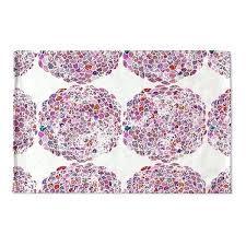 designs pink dots flat weave bath mat moroccan trellis rug