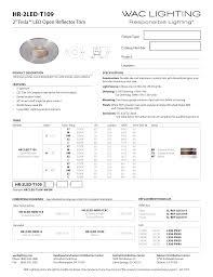 2013 Title 24 Lighting Hr 2led T109 Wac Lighting Manualzz Com