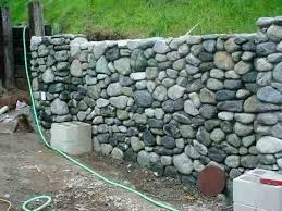river rock retaining wall river rock retaining wall river rock retaining wall dry stack stone retaining