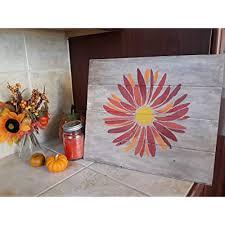 flower stencil diy sunflower crafting