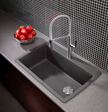 BLANCO Diamond DropInUndermount Silgranit Kitchen Sink Blanco Cinder Sink25