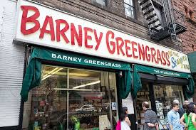 front and sign for barney greengr a traditional jewish style delicatessen originally founded in