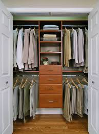 reach in closet in cherry wood