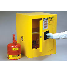 Yellow Flammable Cabinet Justrite Sure Grip Ex Countertop Flammable Safety Cabinet