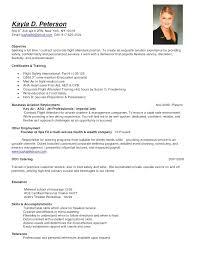 Resume Samples For Flight Attendant Position