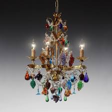 traditional chandelier murano glass wrought iron incandescent mandragola