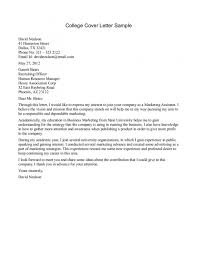 Cover Letter College Student