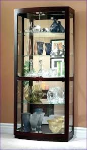 curio cabinets with glass doors contemporary curio cabinets glass door white curio