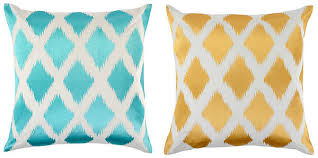 bright colored throw pillows. Simple Pillows View In Gallery Diamond Ikat Pillows From Z Gallerie On Bright Colored Throw Pillows L