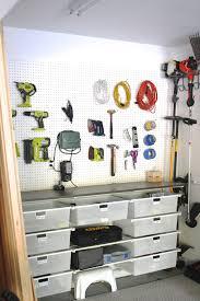 pegboard wall white garage