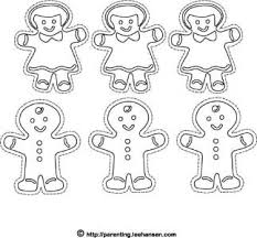 Small Picture Christmas Coloring Pages Gingerbread Cookies Craft Sheet