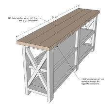 free barnwood furniture plans. ana white build a rustic x console free and easy diy project furniture plans barnwood