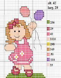 Resultado de imagem para ponto cruz de crianças