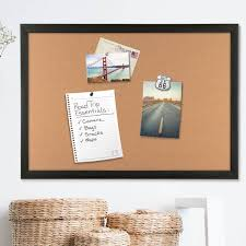 U-Brands Natural Cork Bulletin Boards with Black Frames