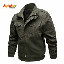 Air Force Pilot <b>Military Jacket Men Spring</b> Cargo Tactical Bomber ...