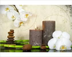 Fiori e candele u2013 benessere u2013 stampa su tela u2013 interni & decori