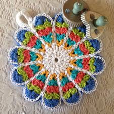 Double Thick Crochet Potholder Pattern Best Vintage Style Flower Potholder From AllSylviasCreations