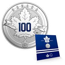 pure silver coin the toronto maple leafs anniversary logo 2017