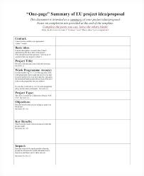 One Page Proposal One Page Business Proposal Template In Word ...