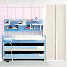blue kids furniture. Kids Furniture Set With 3 Truckle Beds Light Blue By Clever A